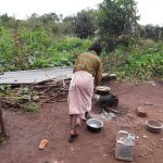 The Water Project: Rwentale-Kyamugenyi Community -  Cooking Outside