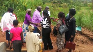 The Water Project : 11-kenya4729-community-members-saying-thank-you-to-staff