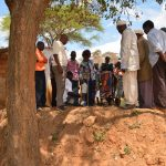 The Water Project: Kithuluni Community -  Building Hand Washing Station