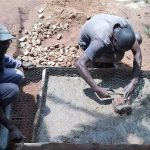 The Water Project: Ebuhando Community -  Sanitation Platform Construction