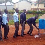 The Water Project: Lelmokwo Boys' Secondary School -  Hand Washing Station