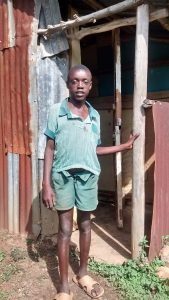 The Water Project:  Student Posing At Latrine