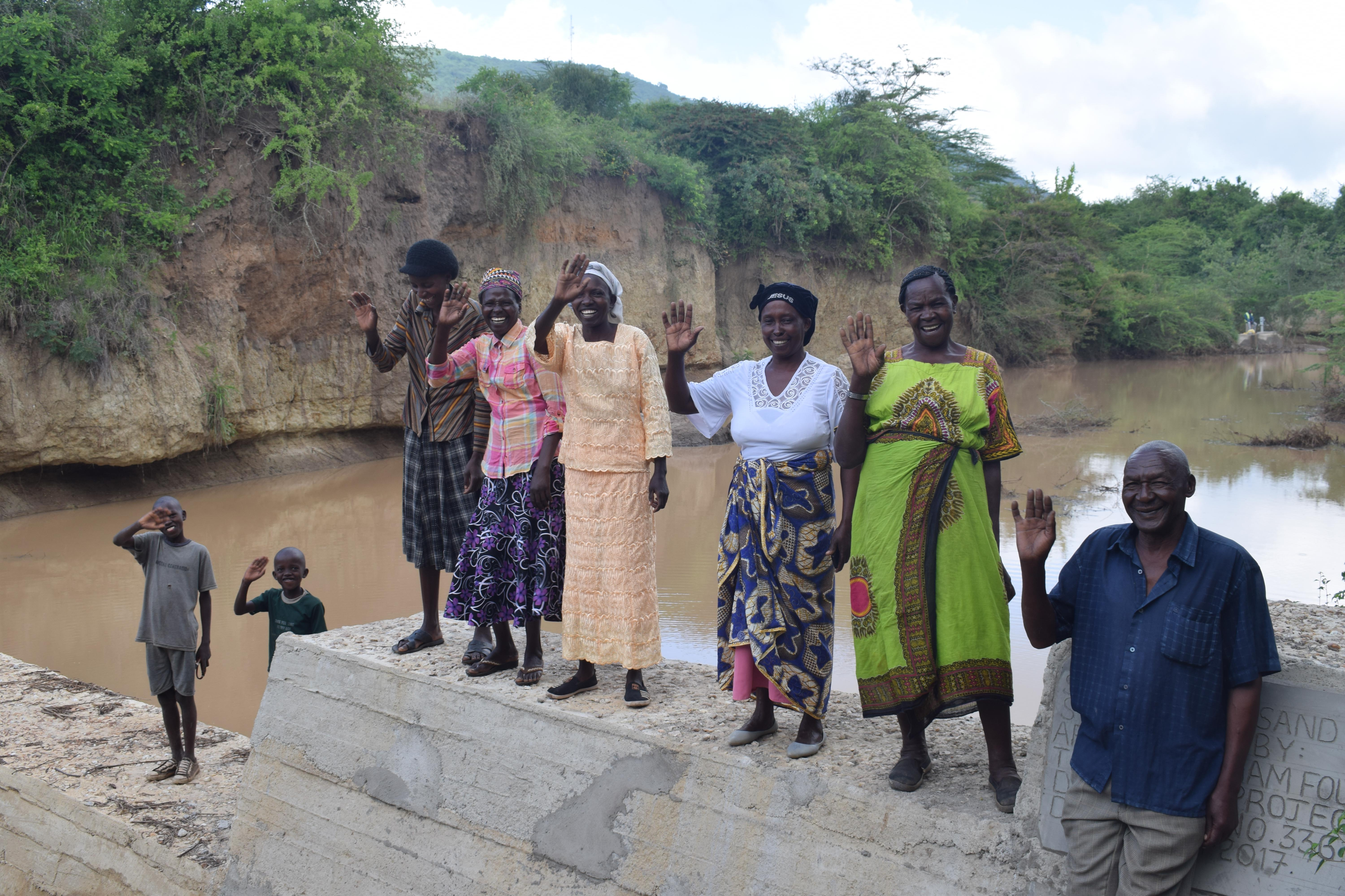 The Water Project : 39-kenya4768-finished-sand-dam