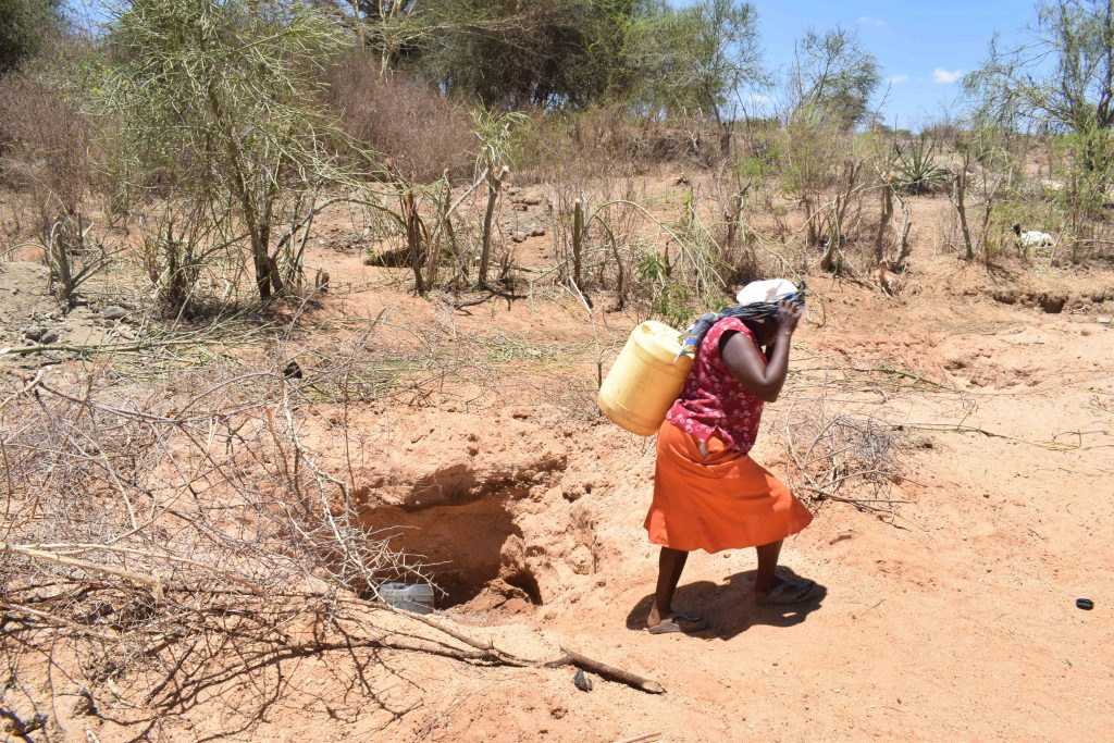 The Water Project : 4-kenya4863-fetching-water