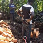 The Water Project: Mwiyala Community, Benard Spring -  Construction
