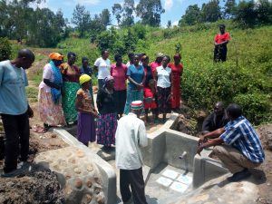 The Water Project : 7-kenya4732-spring-maintenance-training-2