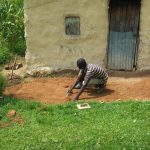 The Water Project: Mwiyala Community, Benard Spring -  Casting Sanitation Platform