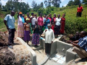The Water Project : 8-kenya4732-spring-maintenance-training-2