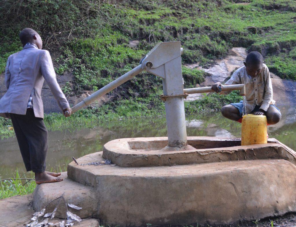 The Water Project : asdf_kyangundi-water-project-shg_year-after-interviews-3