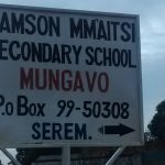 The Water Project: Samson Mmaitsi Secondary School -  School Sign