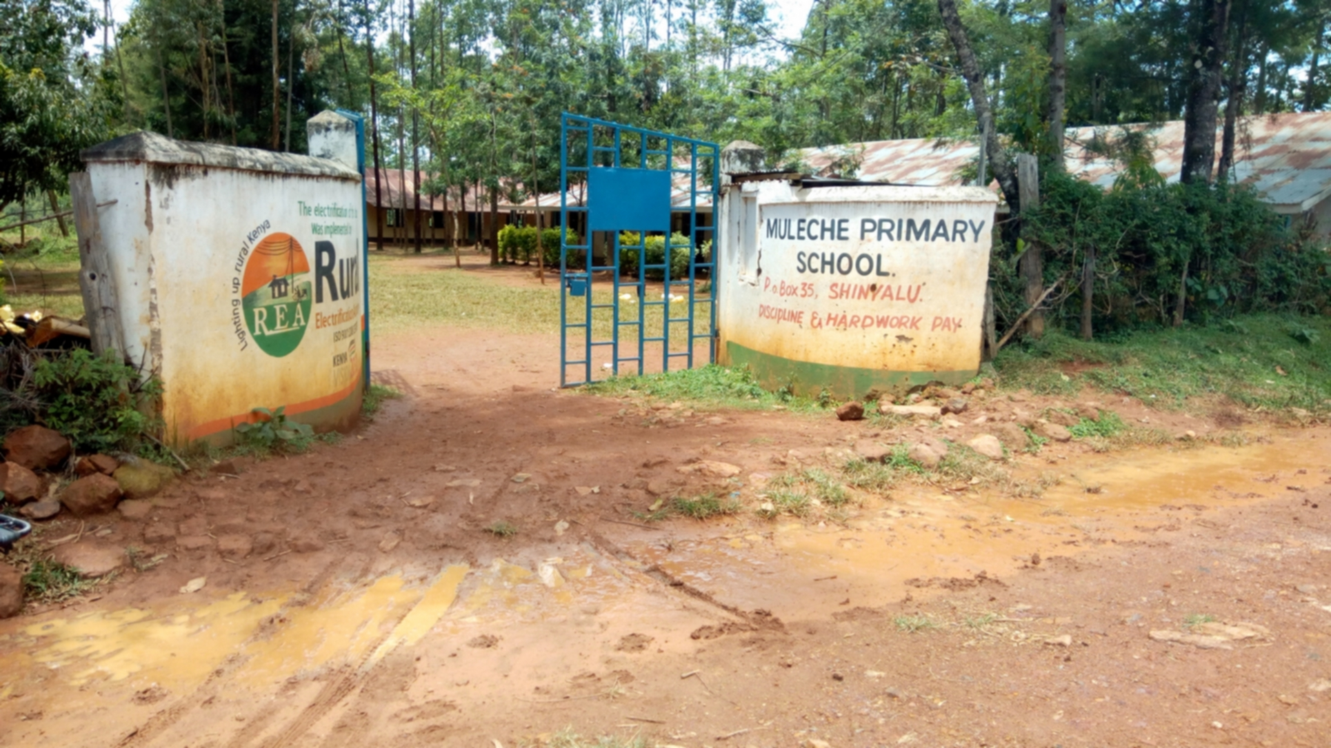 The Water Project : 1-kenya18080-school-gate