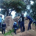 The Water Project: Samson Mmaitsi Secondary School -  Rocks Students Sit On