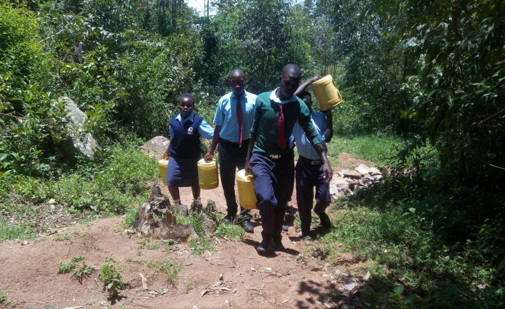 The Water Project : 11-kenya18072-carrying-water