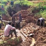 The Water Project: Isese Community -  Construction
