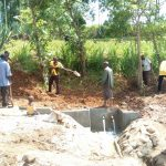 The Water Project: Futsi Fuvili Community, Patrick Munyalo Spring -  Construction