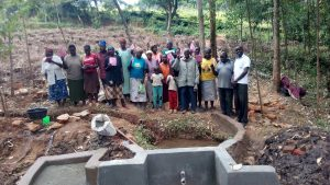 The Water Project:  Group Picture By The Spring Under Construction