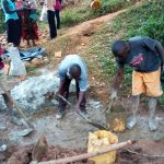 The Water Project: Mtao Community, Tifina Odari Spring -  Construction
