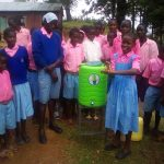The Water Project: Muhudu Primary School -  Hand Washing Station