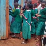 The Water Project: Womulalu Primary School -  Latrines During Break