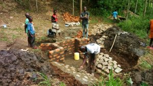 The Water Project : 13-kenya4742-spring-construction