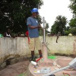 The Water Project: Gbaneh Bana SLMB Primary School -  Pump Installation