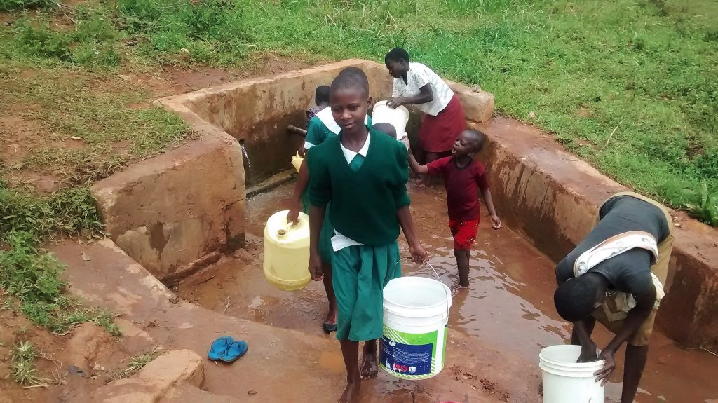 The Water Project : 14-kenya18015-fetching-water-for-school
