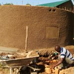 The Water Project: Shiyunzu Primary School -  Artisan Working On Soak Pit