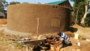 The Water Project:  Artisan Working On Soak Pit
