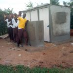 The Water Project: Mwitoti Secondary School -  Finished Latrines