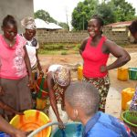 The Water Project: Kasongha Community, 16 Komrabai Road -  Yield Testing