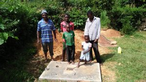 The Water Project:  Finished Sanitation Platforms
