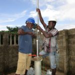The Water Project: New London Community, Magburaka Road -  Pump Installation