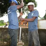 The Water Project: Kasongha Community, 16 Komrabai Road -  Pump Installation