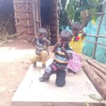 The Water Project: Gidagadi Community -  Finished Sanitation Platforms