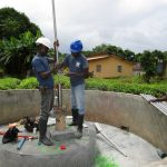 The Water Project: Mayaya Village A -  Pump Installation