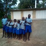 The Water Project: Namalenge Primary School -  Finished Latrines