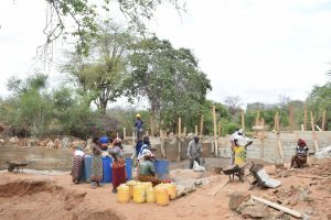 The Water Project : 22-kenya4767-sand-dam-construction