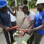 The Water Project: Ernest Bai Koroma Secondary School -  Pump Installation