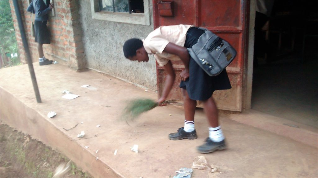 The Water Project : 4-kenya18023-girl-sweeping