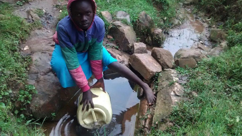 The Water Project : 4-kenya18096-warosi-spring