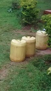 The Water Project:  Water Containers At School