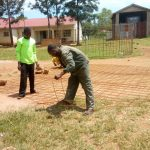The Water Project: Mwitoti Secondary School -  Wire Mesh For Tank Wall