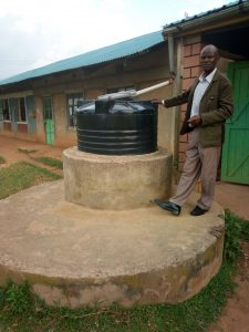 The Water Project:  Staff Water Tank