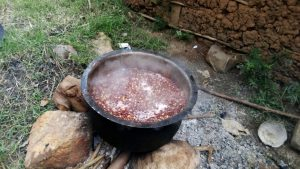 The Water Project:  School Lunch Being Cooked Outside