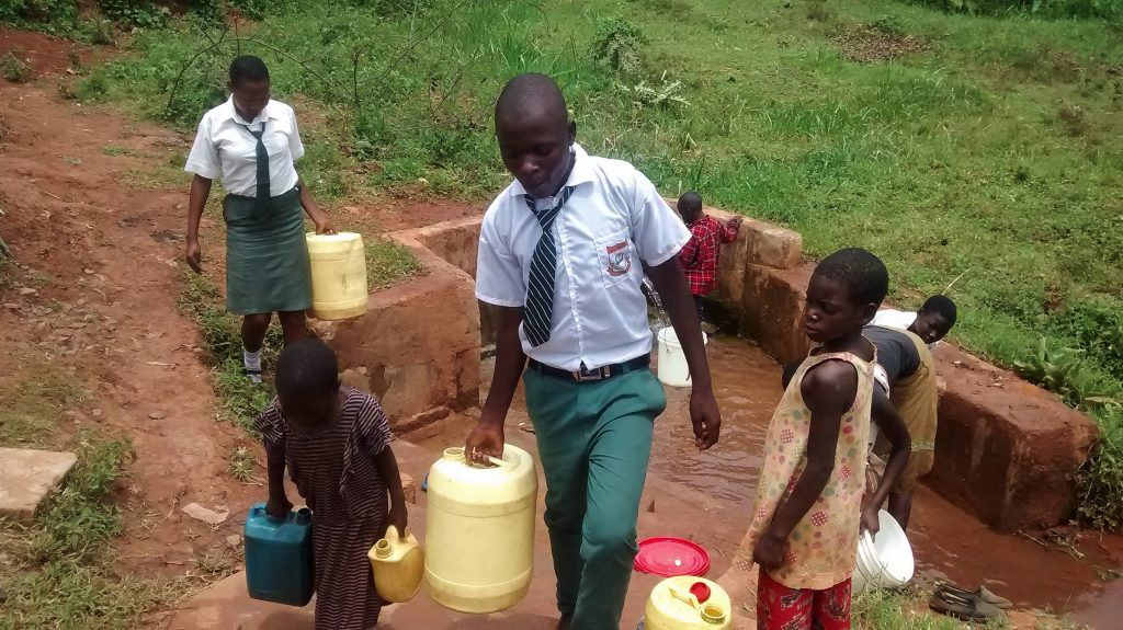 The Water Project : 9-kenya18013-fetching-water-in-the-community
