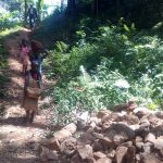 The Water Project: Elunyu Community, Saina Spring -  Construction