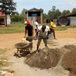 The Water Project: Mwitoti Secondary School -  Mixing Cement
