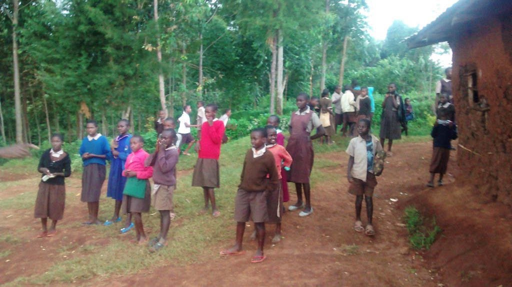 The Water Project : 1-kenya18018-students