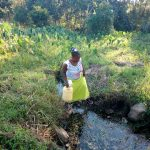 The Water Project: Shibuli Community, Khamala Spring -  Current Water Source