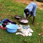 The Water Project: Ejinja Community -  Doing Laundry